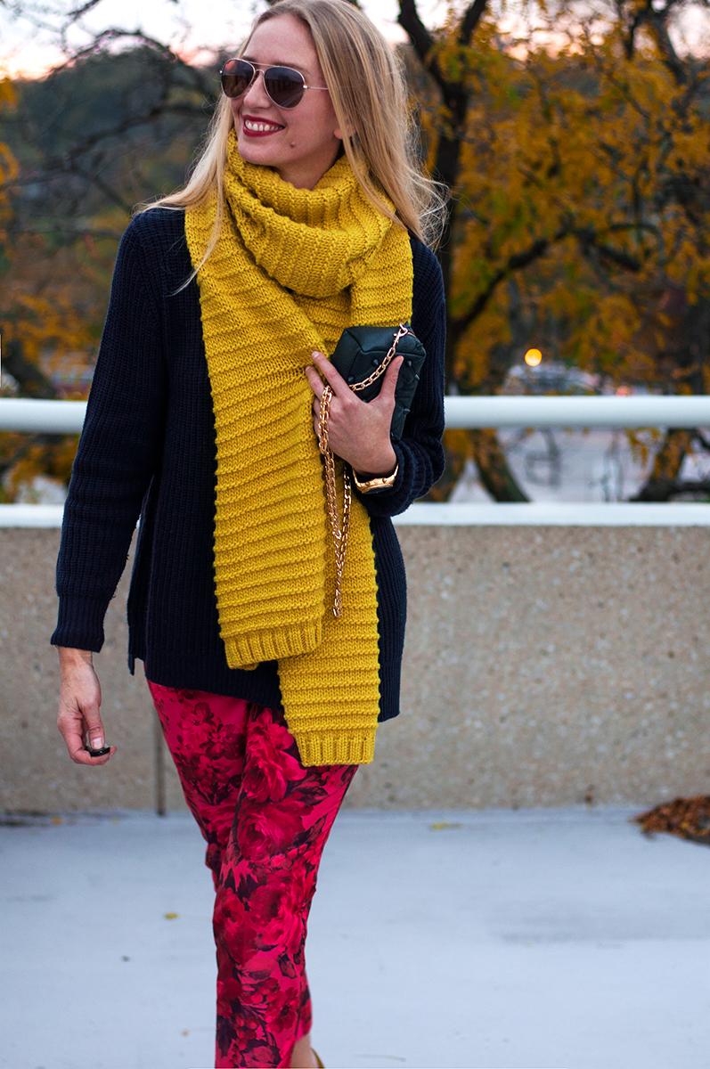 Zara Knit Scarf in Lime Green