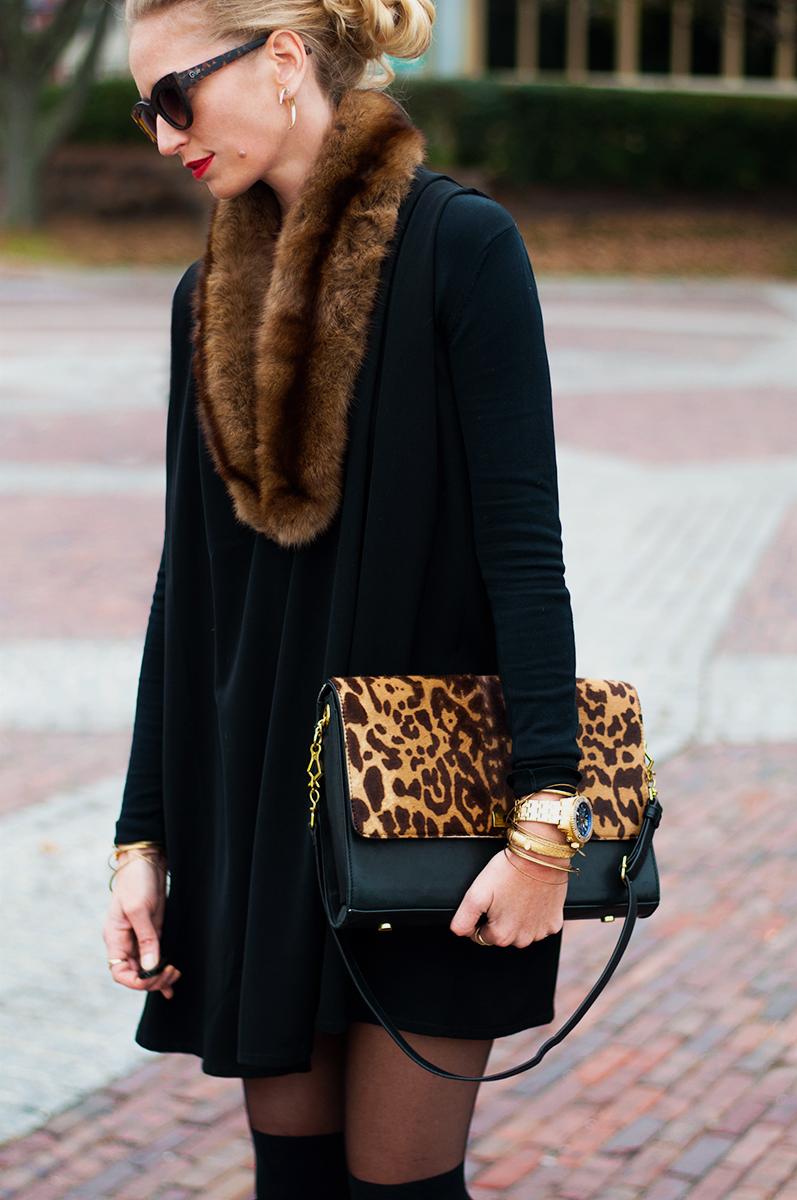 J Crew Edie Grand in Leopard Calf Hair