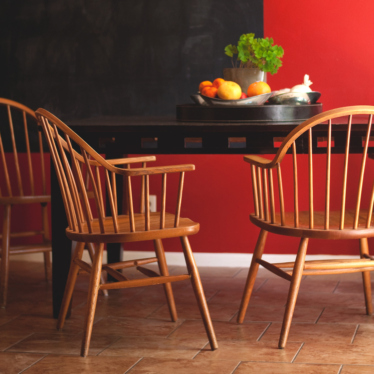 NEED!!! We found these wooden kitchen chairs for $5 a piece. They definitely need some love - but when have I ever turned down a project?