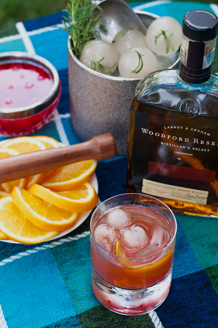 Old Fashioned Over Smoked Ice