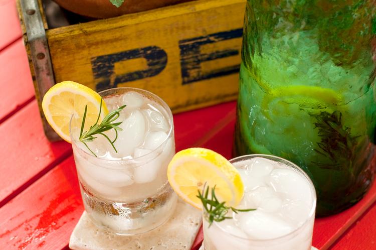 Freshly Squeezed Rosemary Infused Lemonade