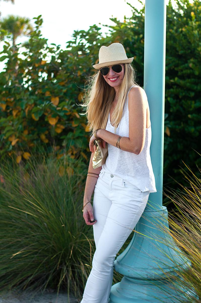 Gap Always Skinny White Jeans