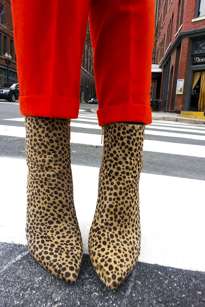 Michael Kors Leopard Calf Hair Ankle Boot