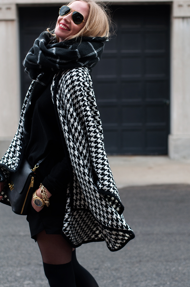 Houndstooth Cardigan Cape from The Shopping Bag