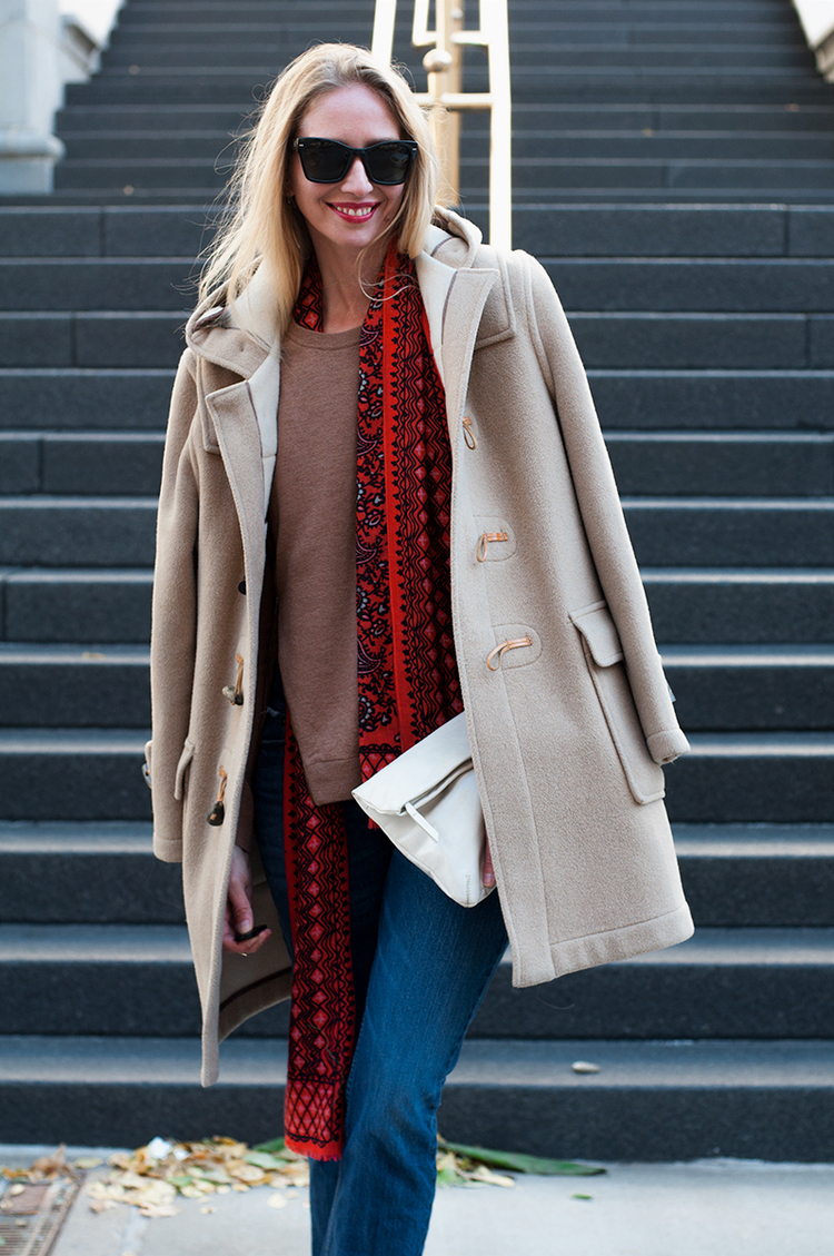 J Crew Asymmetrical Zip Sweater with Toggle Coat