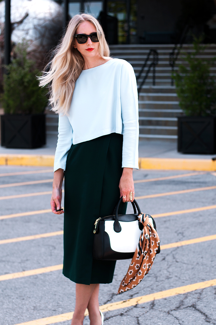 Zara Crop Top and Pencil Skirt