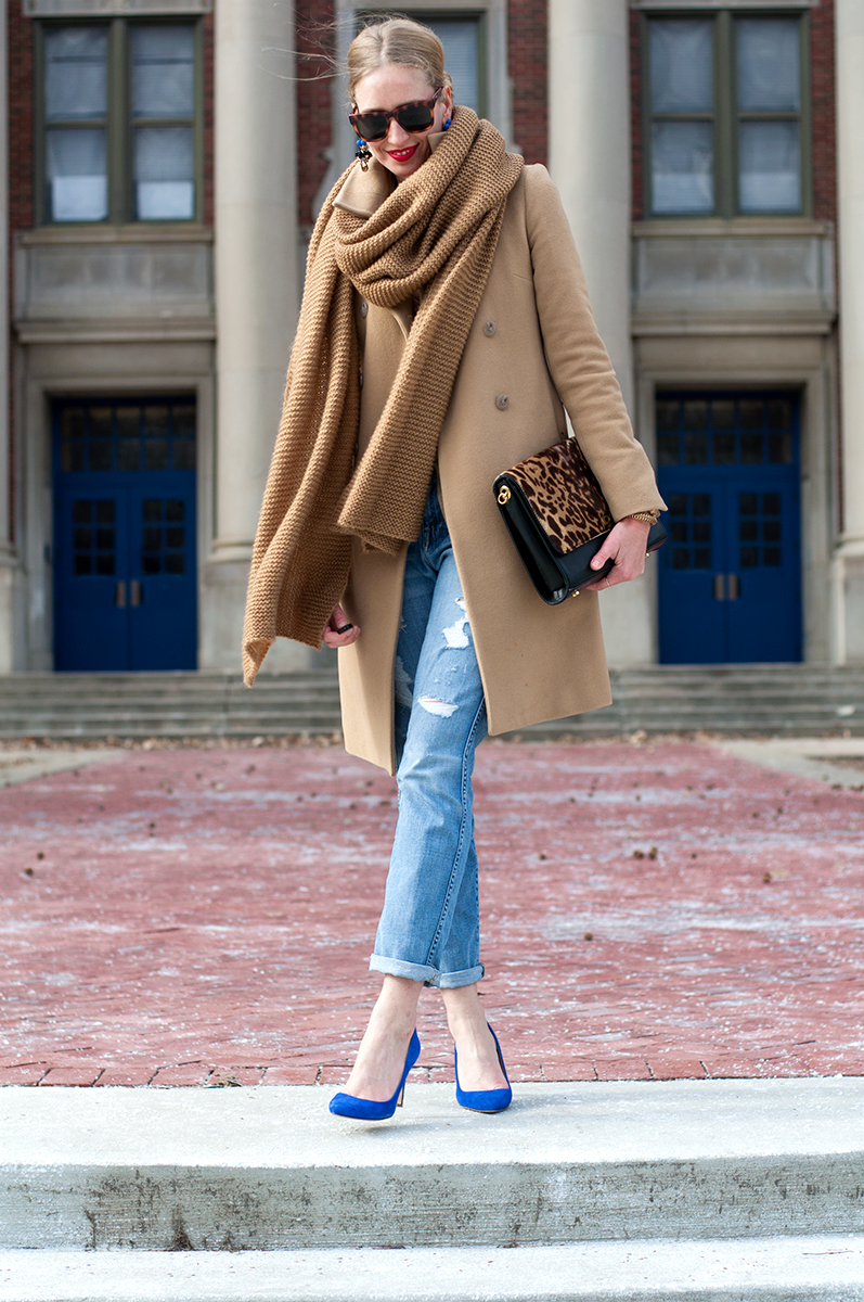 J Crew Blogger Style - Destructed Broken In Boyfriend Jeans