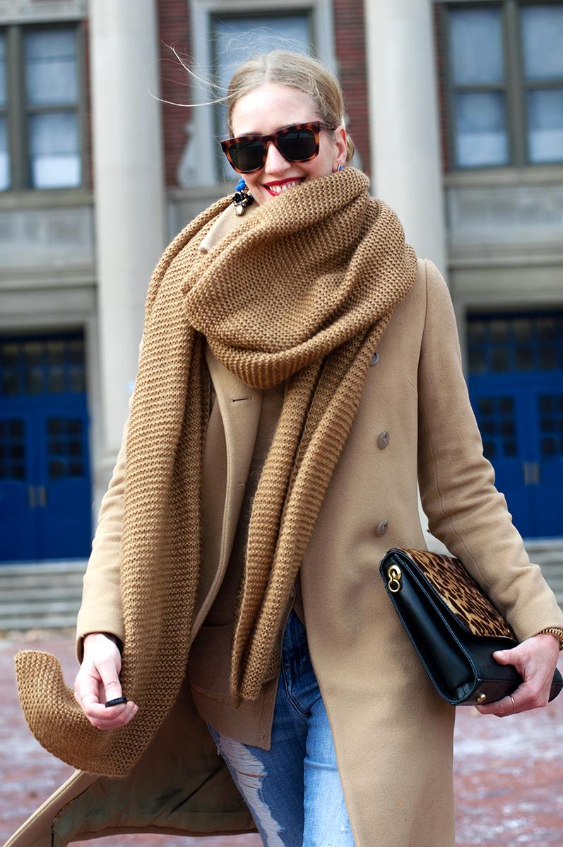 J Crew Blogger Style - Leopard, Camel, & Cobalt