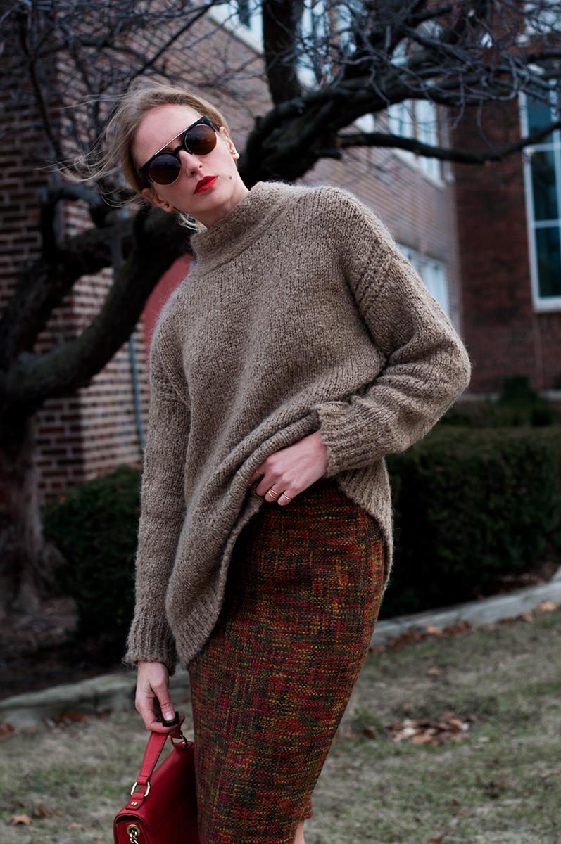 Talbots Tweed Skirt