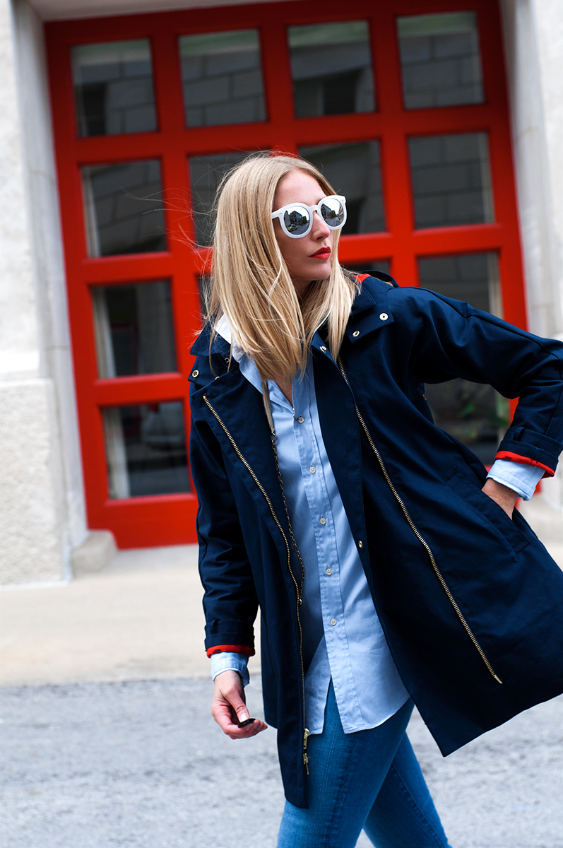 J Crew Swing Trench Coat, Blogger Style Spring 2015