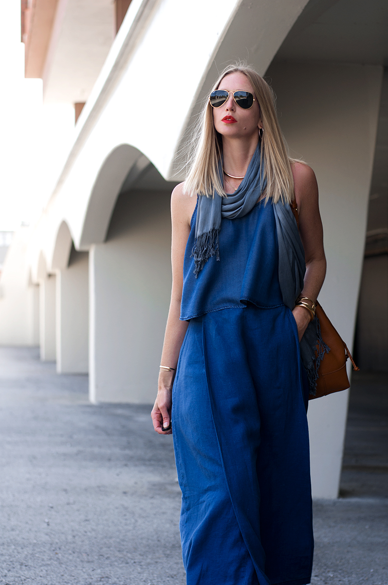 Forever21 Cropped Chambray Cami, Blogger Style Spring 2015