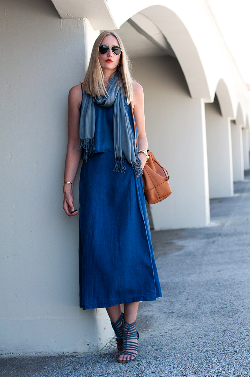 Chambray Crop Top Set, Blogger Style Spring 2015