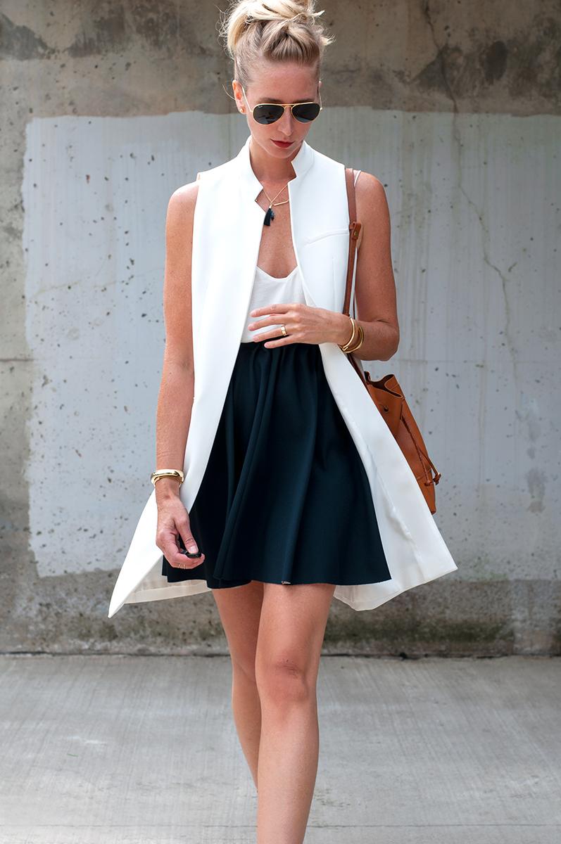 Zara White Waistcoat and Skirt with Elastc Waist