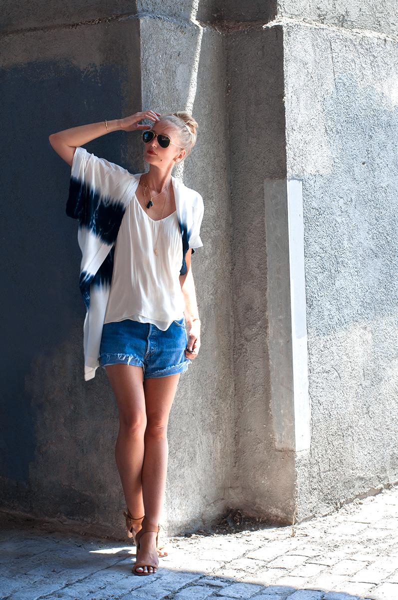 Forever 21 Tie-Dye Kimono, Blogger Style Summer 2015
