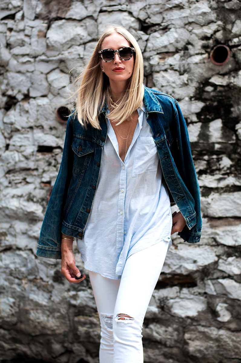 Madewell Alley Straight Jean in White