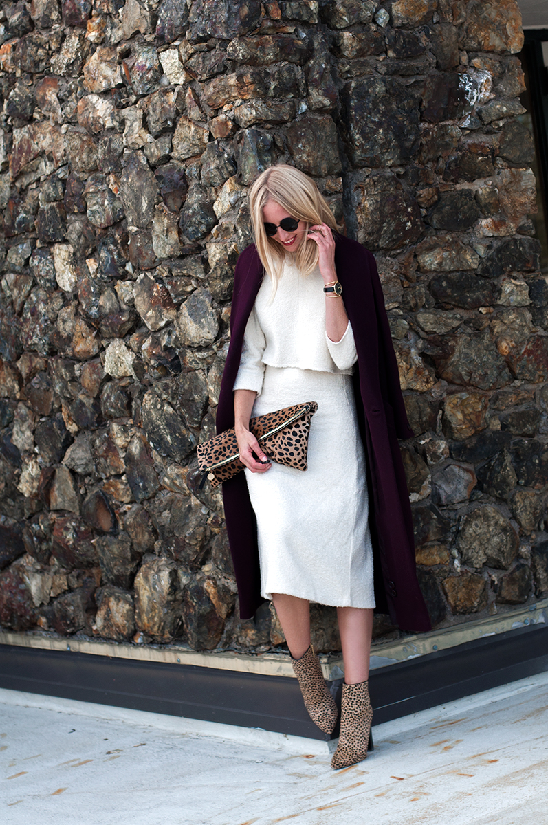 Forever 21 Boxy Dolman Top and A-Line Midi Skirt