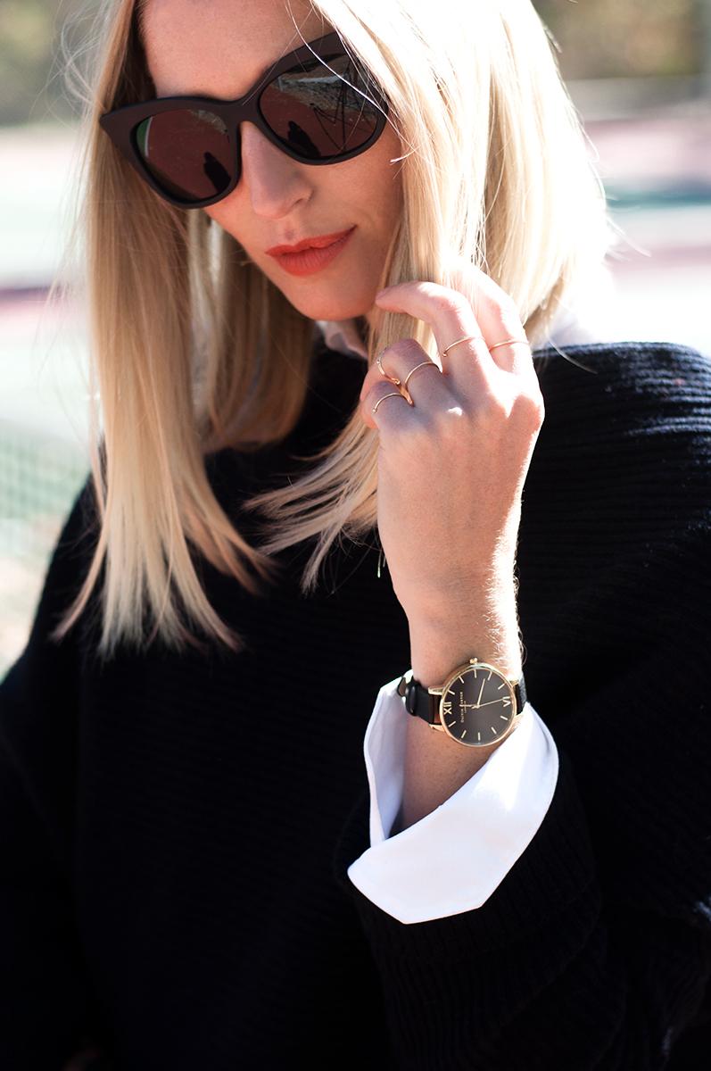 Olivia Burton Black Faced Watch
