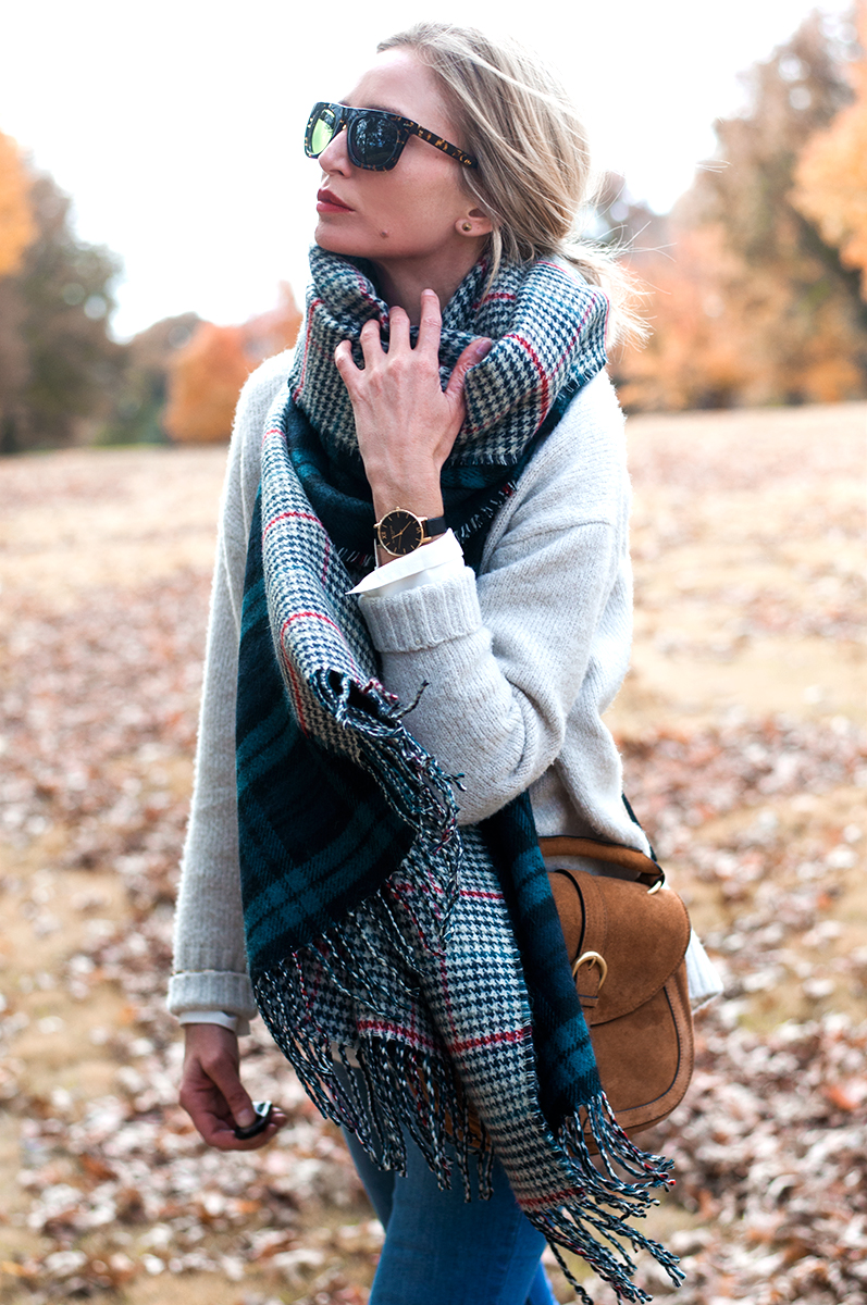 Nordstrom Rack, David and Young Plaid Blanket Scarf