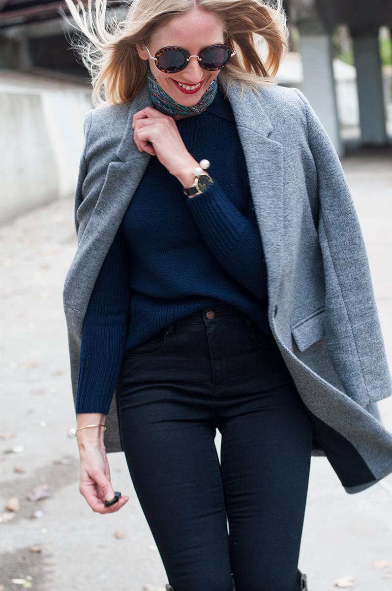 Zara Grey Masculine Coat