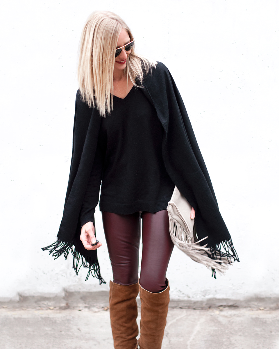 Ann Taylor Faux Leather Legging