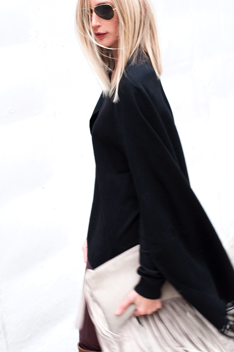 Zara Fringed Leather Clutch