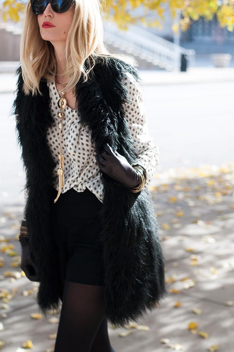 French Connection Chicago Faux Fur Vest