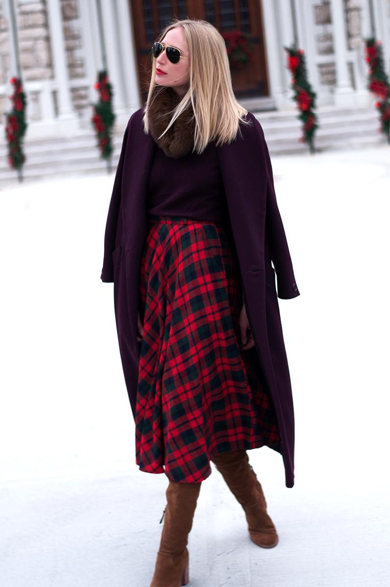 VIntage Tartan Plaid Skirt