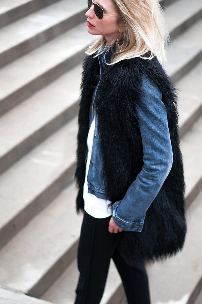 French Connection 'Chicago' Faux Fur Gilette