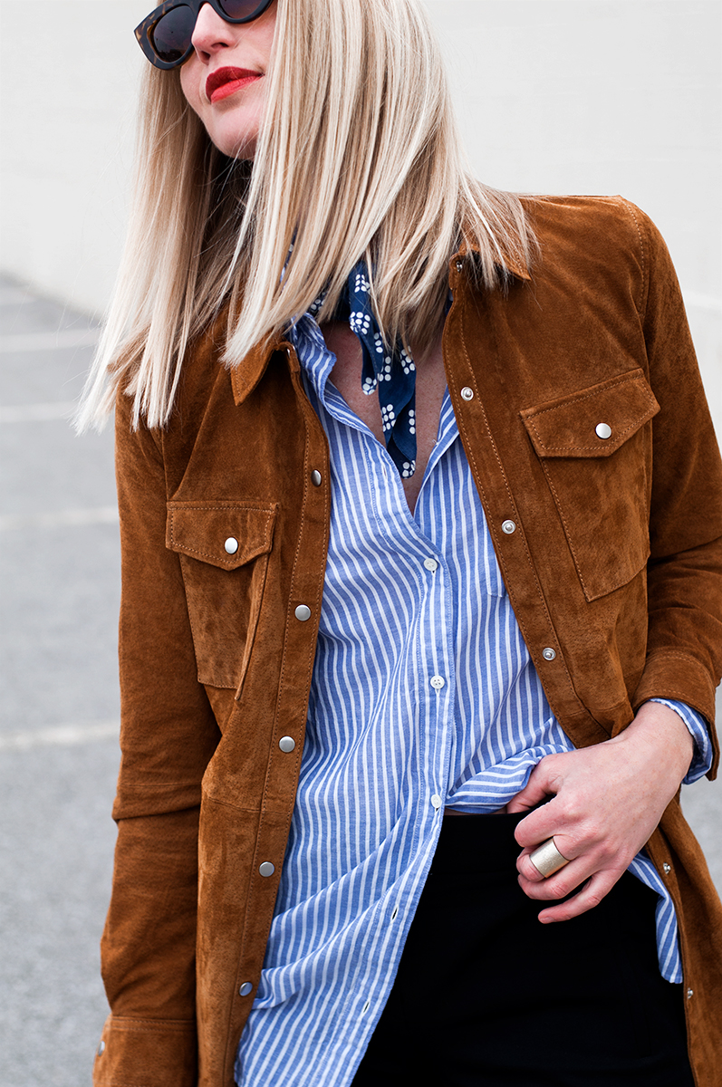 Forever 21 Suede Shirtdress