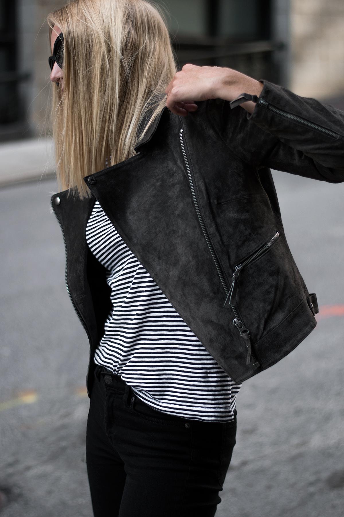 Asos Suede Moto Biker Jacket