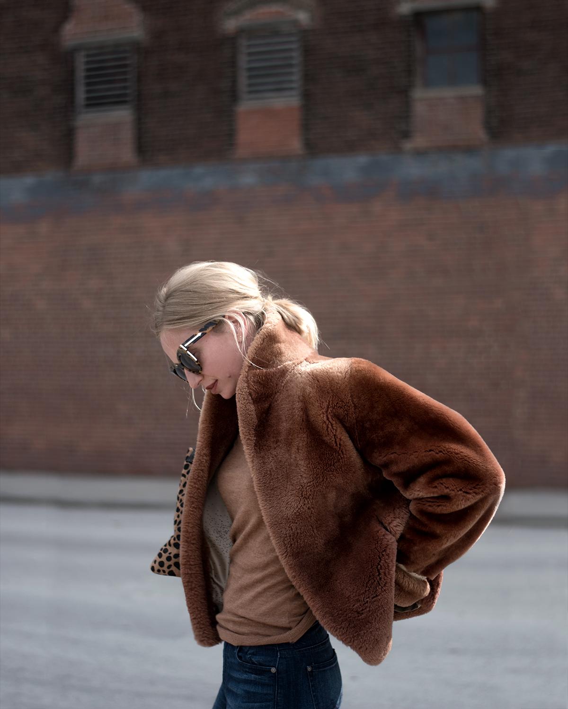 Faux Fur Bomber Jacket, Forage Fashion