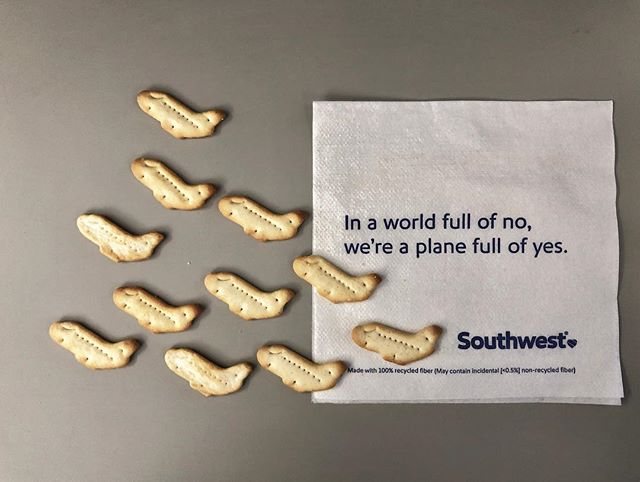 Got inspired on the way to Vegas. Thanks @ritzcrackers @southwestair @mikekelley_