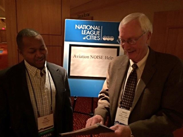 N.O.I.S.E. Treasurer Joe Carn andN.O.I.S.E. President Brad Pierce