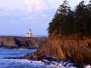 A lighthouse on the Oregon coast.