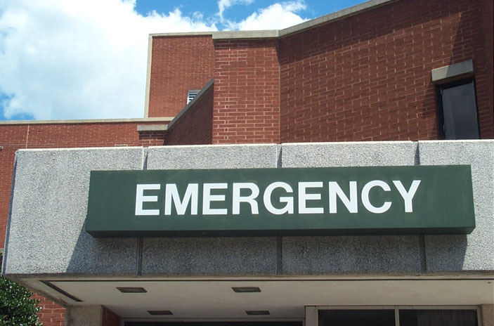 """EMERGENCY"" sign."