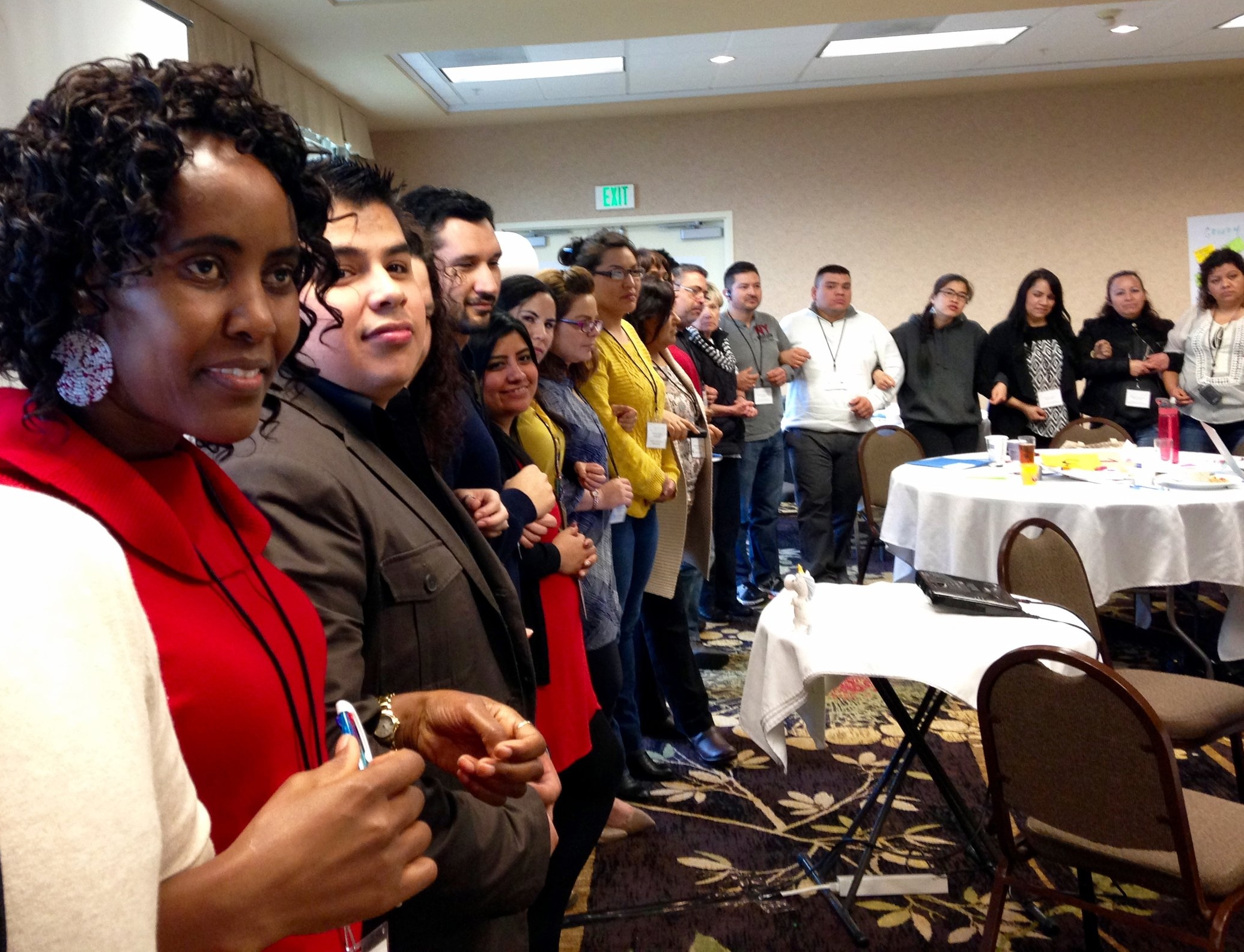 Healthy Beginnings+Healthy Communities Collaborative members gather in Astoria, Oregon.