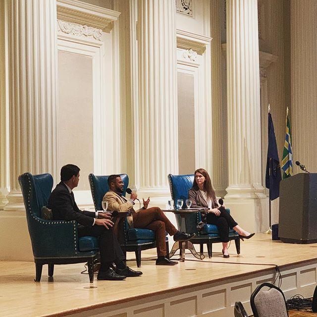 Our President Jesse Beason spoke today at a @pdxcityclub #fridayforum about Oregon's financial future. #oregon #orleg #politics #finance