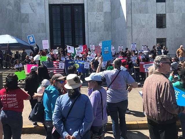 #mayday rally at the Oregon State Capitol! #driverslicenses4all #immigrantsrights