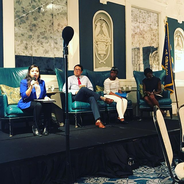 Fantastic @pdxcityclub #fridayforum today with community leaders talking about the affect Oregon's financial challenges have on their communities. #Oregon #orleg #education #housing #health #peopleofcolor