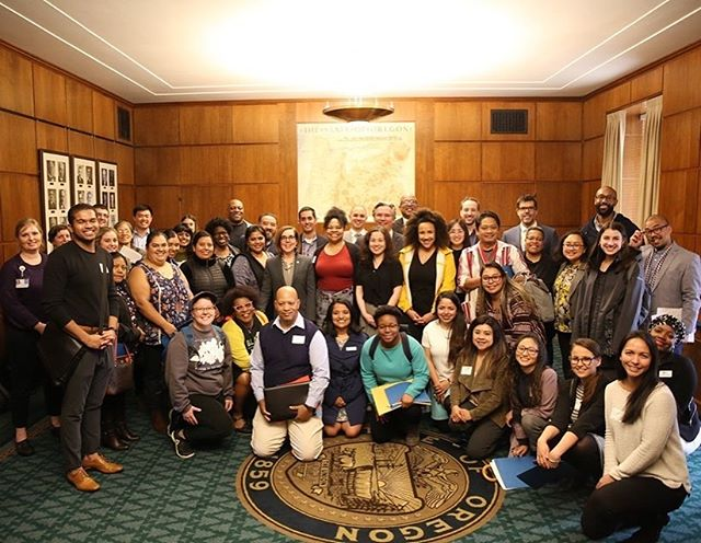 Incredible turnout for @colorcoalition's lobby day last week! #orleg #oregon #representationmatters