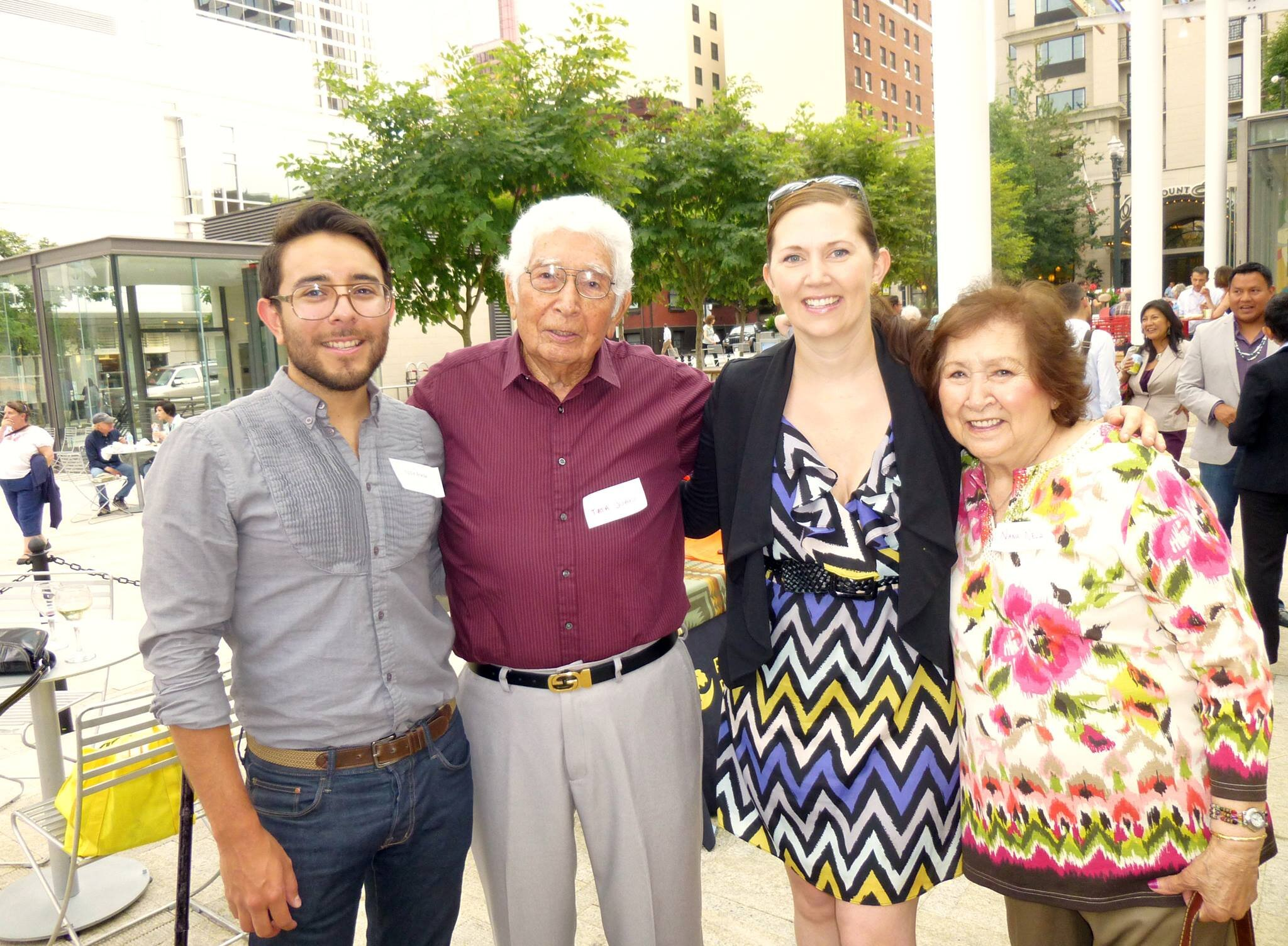 Eddie, former NWHF President Nichole June Maher, and Eddie's Nana and Tata at Native Professionals Night.