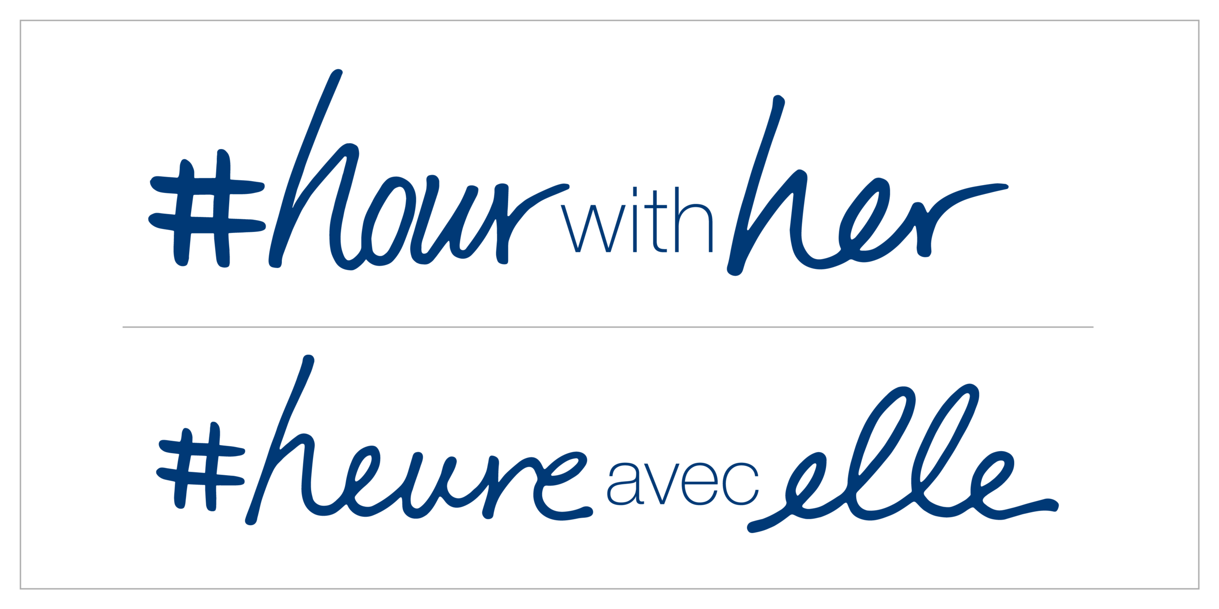 Logo Creation - As the sibling to Real Beauty Productions, HourWithHer had to have a logo that felt similar but as unique as its mission. Custom handwriting pairs with Helvetica Neue and is versatile in order to reach a variety of markets.