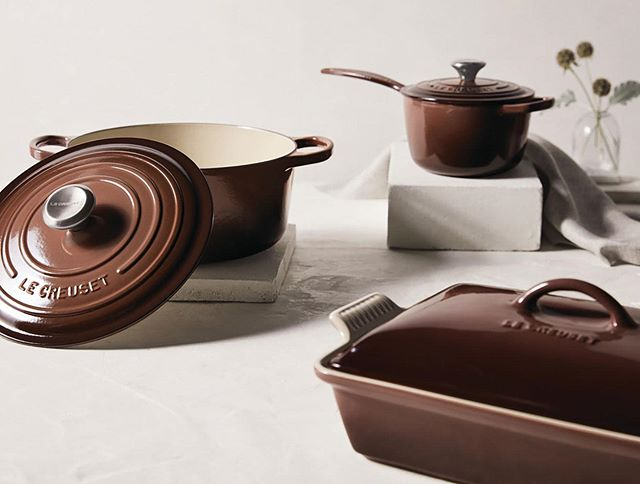 Truffle Launches 10/1 - Warm, welcoming, and refreshed with a touch of stainless steel for the first time ever: Le Creuset's Truffle hue brings functional beauty and the rich shades of autumn into your home.