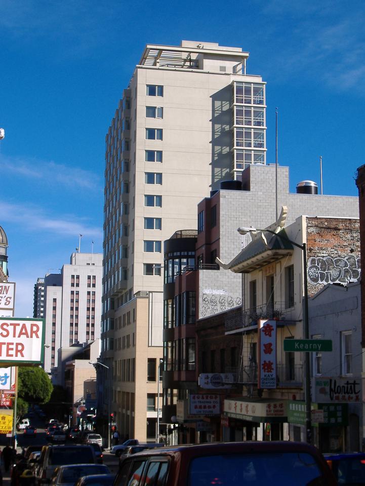 View down Jackson Street