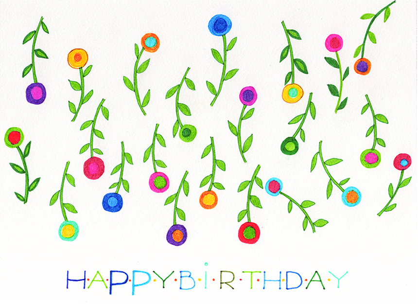 """Happy Birthday Card 5"""" x 7"""" with an envelope See it on Etsy ."""