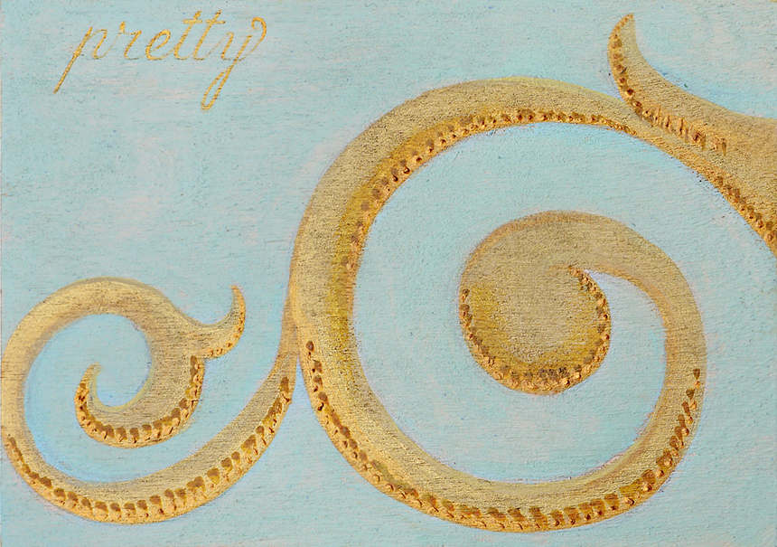 Pretty Gold Vignette Panel