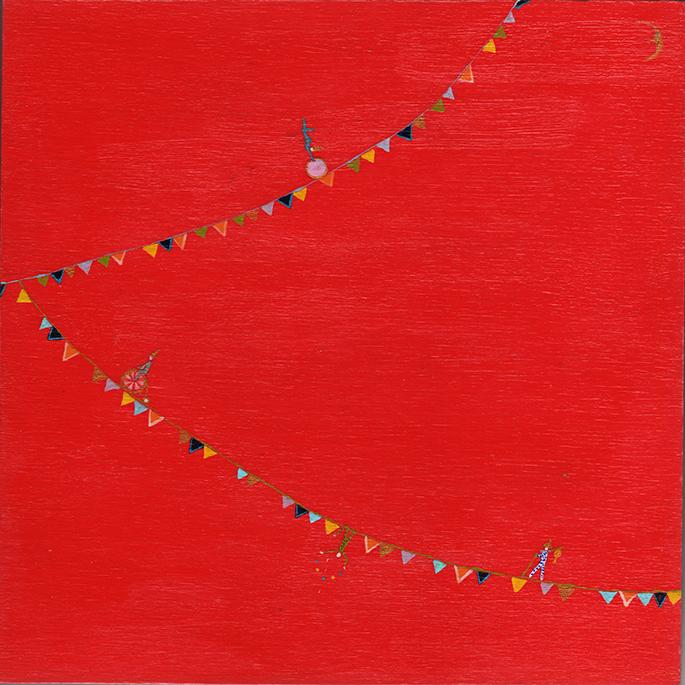 "Original painting Acrylic on birch panel    8"" x 8"" x 1""    See it on  Etsy"