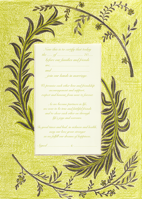 Green Branches Marriage Vows