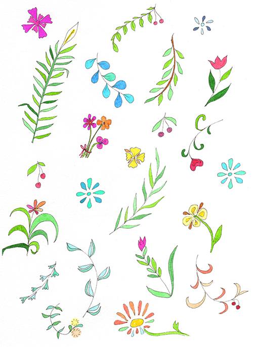 Dancing Flowers Card