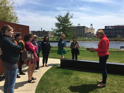 Menomonee Valley Partners lead the tour of the Valley